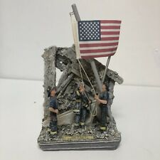 Vanmark Firefighters Statue Figurine - Image Of Hope II - In Remembrance Of 9/11