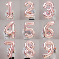 """40""""Giant Foil Number Rose Gold Helium Large Balloon Birthday Party Wedding Gift~"""