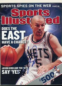 JASON KIDD NEW JERSEY NETS SPORTS ILLUSTRATED Magazine signed autographed