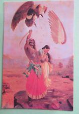Vintage Raja Ravi Varma JATAYU VADHA story telling picture postcard C1970-80