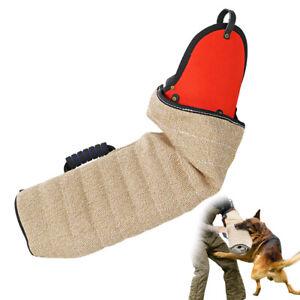 Jute Dog Bite Sleeve for K9 Dogs Schutzhund Pitbull Training Toy & Bent Protect