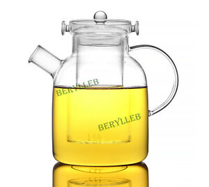 High Quality Clear Glass Kettle for Induction Cooker 2000ml 67.2 fl. oz