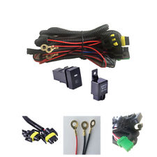 H11 Fog Light Wiring Harness Sockets Wire + LED indicators Switch 12V 40A Relay