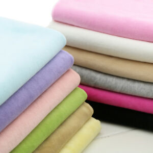 100% Soft Cotton Velvet Knit Baby Coat Sheet Fabric Safety without fluorescence