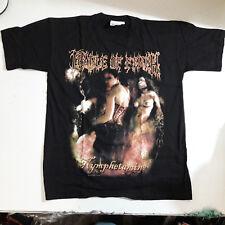 Vintage    CRADLE OF FILTH      Unused T SHIRT      metal black death  lp cd