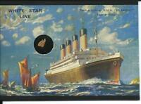 RMS TITANIC 100- Years. RMS Olympic Wood Artifact Card. Cult-Stuff 2012