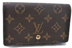 Auth Louis Vuitton Monogram Porte Monnaie Billets Tresor Wallet M61730 LV D6321
