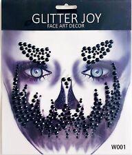 Halloween Face jewels sticker Adhesive Temporary Tattoo Body Art Gems Rhinestone