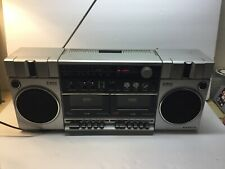 Sanyo Stereo Radio Cassette Recorder Boombox w/ 2 Way Speaker System Model M-W3K