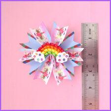 """100 Girl 3.5"""" Fairy Hair Bow Clip C- Unicorn Rainbow  L.O.L Doll Surprise Baby"""