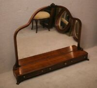 19th Century French Ladies' Vanity Mirror With 3 Drawers