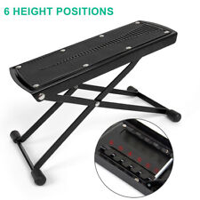 Guitar Foot Stool Rest Adjustable Height Angle Non-slip Rubber Pad 6 Position
