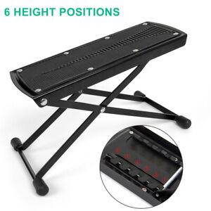Guitar Foot Stool Rest Folding Adjustable Size for Acoustic Classic Guitar Kmise