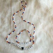 EDMONTON OILERS necklace and bracelet set-NEW