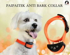 Orange Belt Shock Dog Bark Collar Automatic Rechargeable Pet Training Paipaitek