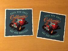 2x Hot Rod Aufkleber Rock Race Roll Rockabilly Old School Tuning Retro Old H005