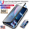 Magnetic Adsorption Double Side Glass Case Cover iPhone 11 Pro Xs Max XR X 7 8+