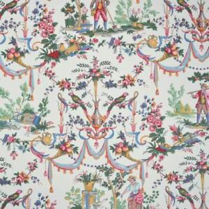 Textiles Français Cotton Fabric Toile de Jouy Fabric   La Vie à la campagne