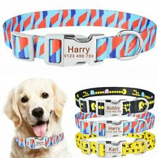 Small Medium Large Pet Personalized Dog Collar Floral Free Engraved Puppy Name