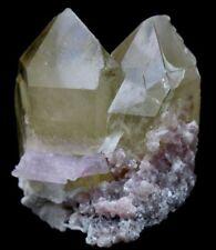 225 Gm Twin Smoky Quartz Points Crystals with Kunzite,Cleavlandite & Lepidolite