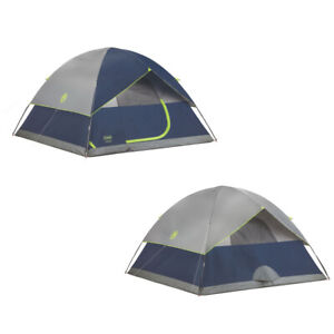 Coleman 2000034549 Sundome Tent 10'x10' 6 Person Navy/Grey