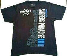 Hard Rock Cafe Black T Shirt Surfers Paradise 100% Cotton Vintage Size Large L