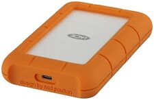 LaCie Rugged Secure 2TB Mobile External Hard Drive in Orange - USB3.0