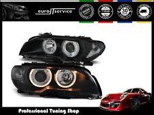 NEUF FEUX AVANT PHARES LPBM84 BMW E46 2003 2004 2005 2006 COUPE ANGEL EYES