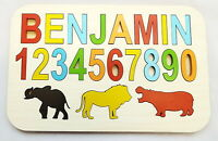 personalised Children's name puzzle up to 8 letters educational wooden toy  SAF