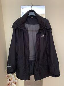 Men's Black Karrimor Weathertite Hooded Jacket Size S