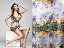 By 0.5 Yard Gorgeous Floral Digital Print Pure Silk Charmeuse Fabric dsp 3318