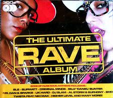 THE ULTIMATE RAVE ALBUM - 3X CDS 36 UNMIXED TRACKS OLDSKOOL HARDCORE RAVE CDJ DJ