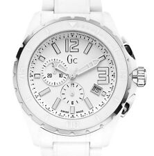 GUESS COLLECTION,SWISS MADE MEN'S SPORT CERAMIC CHRONO WATCH, x76015g1s NIB $750