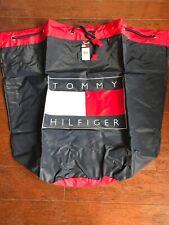 Large Tommy Hilfiger Drawstring Backpack Duffle Bag Nylon Beach Bag New