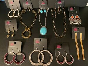 NWT Huge Lot 10 Paparazzi Earrings & Necklace/Earring Sets - 13 Jewelry Items