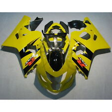 Yellow Injection ABS Fairing Kit For Suzuki GSXR 600 GSX-R 750 2004-2005