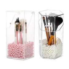 1x Makeup Brush Holder Box Acrylic Cosmetic Brush Organizer Storage Display Case