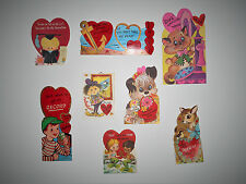 Vintage Lot Of 8 Valentine Cards 60's & 70's Used