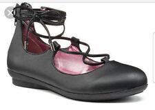 Candie's Girls' Slide Lace-Up Black Ballet Flats - Sizes 13 / 1 / 2 / 3  NWB