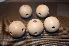 Rohholzkugeln 40 mm, mit 4 Bohrungen