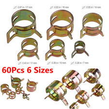 60pc 6Size Auto Car Spring Clip Fuel Oil Water Hose Pipe Tube Clamp Fastener Kit