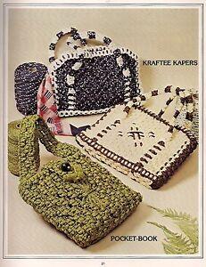 Vintage Pocket-Book & Fourre-Tout Style Sac à Main Gabarit Livre Macramé Sacs !