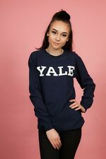 Vintage Navy blue & white YALE long sleeve tshirt top size S