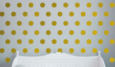 125 gold colour polka dots vinyl wall art sticker room decor decals wallart