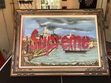 Supreme box logo painting