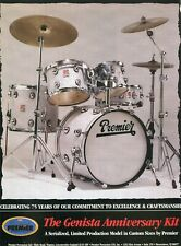 1997 Print Ad of Premier Genista Anniversary Drum Kit Celebrating 75 Years