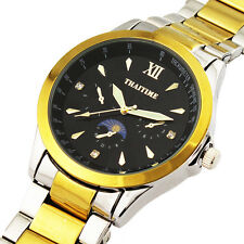 Hot Fashion Unique Mens Quartz Waterproof Business Stainless Steel Watch from US