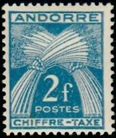 "ANDORRE FRANCAIS STAMP TIMBRE TAXE N° 26 "" CHIFFRE-TAXE 2F "" NEUF x TB"