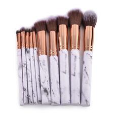 10pcs Marble Make up Brushes Set Blusher Face Powder Foundation Eyeshadow Kabuki