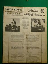 Ariens Fairway Emperor Lawn Tractor Owner'S Manual